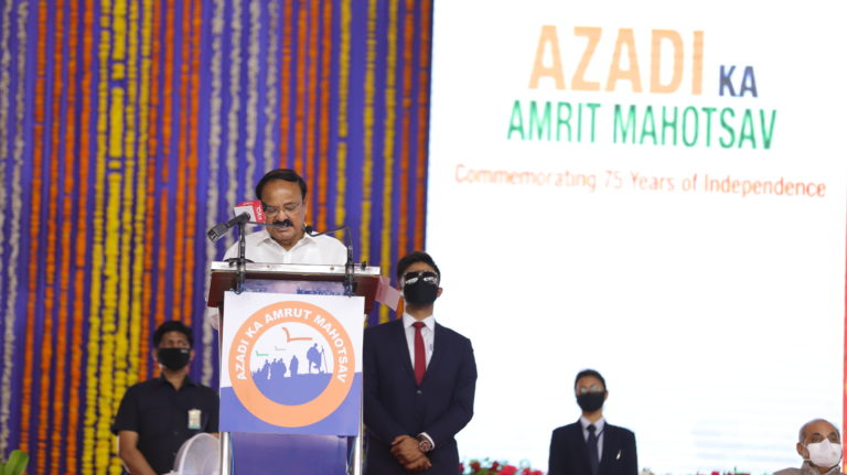 Hon'ble Chief Minister of Sikkim Shri Prem Singh Tamang (Golay) addresses the closing ceremony of Dandi March at Gujarat