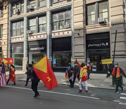 "A protest against ""Tigray Genocide"" on March 26, 2021 in New York, NY. By Wikipedia"