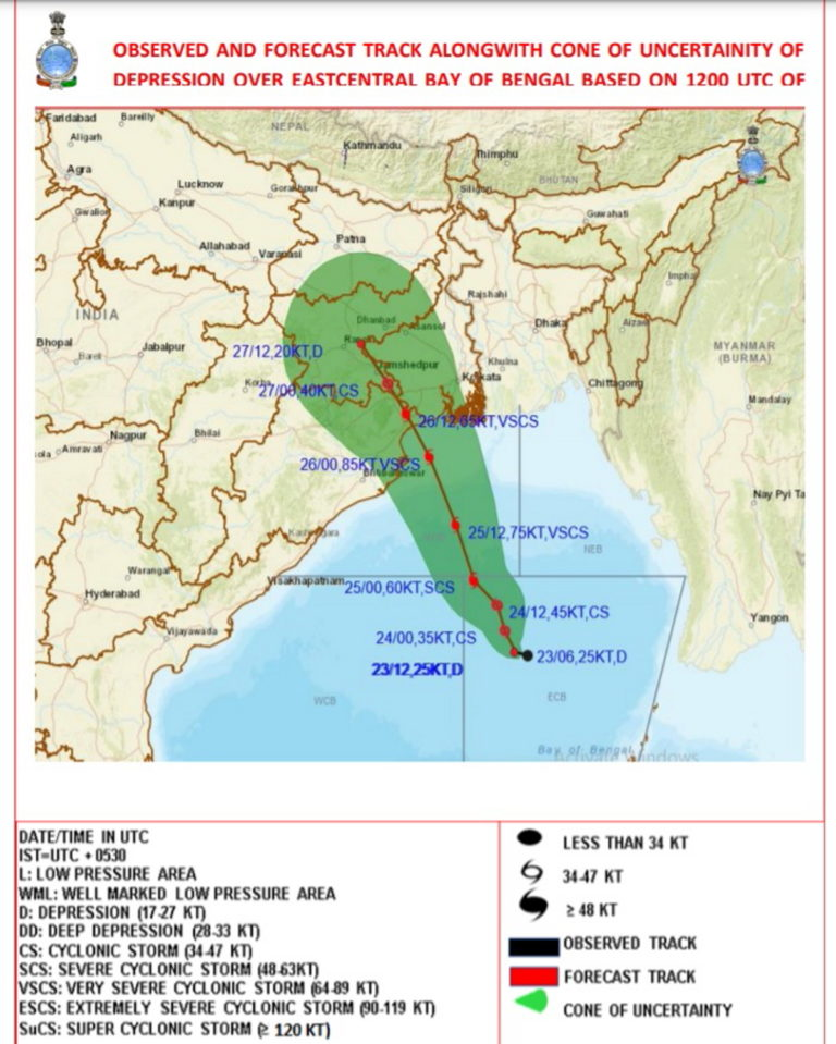 Yaas Update – Cyclonic Storm by 24th May morning and further into a Very Severe Cyclonic Storm during the subsequent 24 hours