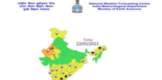 Indian Weather as on 22 May 2021