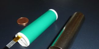 Cylindrical lithium-ion battery cell before closing by Wikipedia