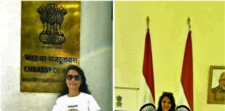 Alka Gupta Attending 7th International Day of Yoga 2021 at Embassy of India in the Kingdom of Thailand