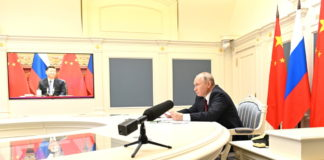 Conversation with President of the People's Republic of China Xi Jinping (via videoconference).