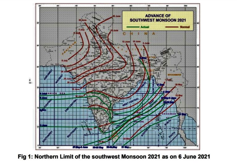 Southwest Monsoon advanced into northeastern states and Sub-Himalayan West Bengal & Sikkim