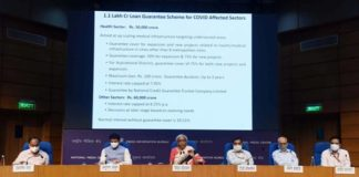 Finance Minister Smt. Nirmala Sitharaman announces relief package of Rs 6,28,993 crore to support Indian economy in fight against COVID-19 pandemic