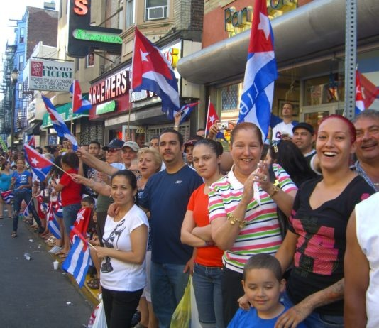 North Hudson, New Jersey is home to a large Cuban American population By Wikipedia